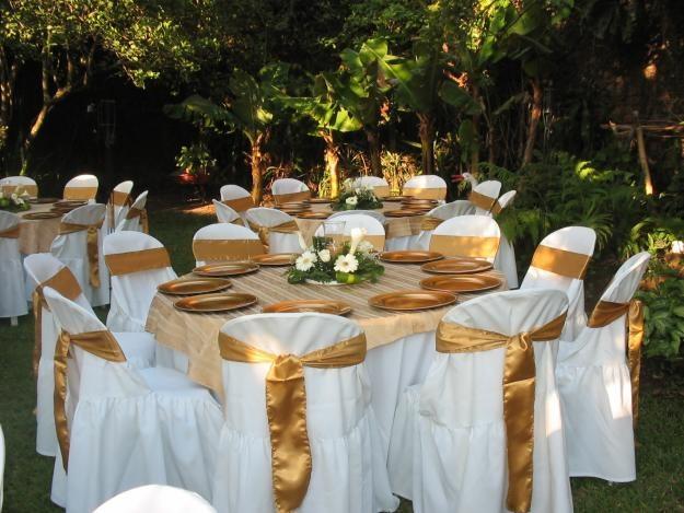 Fiestas y eventos bodas en dorado - Mesas decoradas para bodas ...