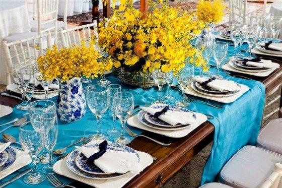 decoracao azul e amarelo casamento : decoracao azul e amarelo casamento:fará seu casamento em azul turquesa com amarelo e um tons de marrom e
