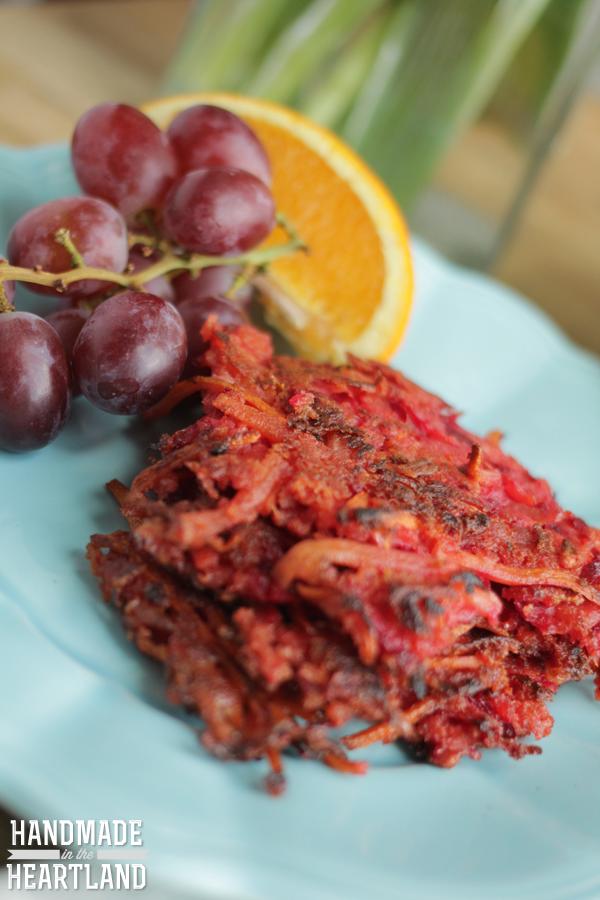 Carrot-and-Beet Latkes Recipe — Dishmaps