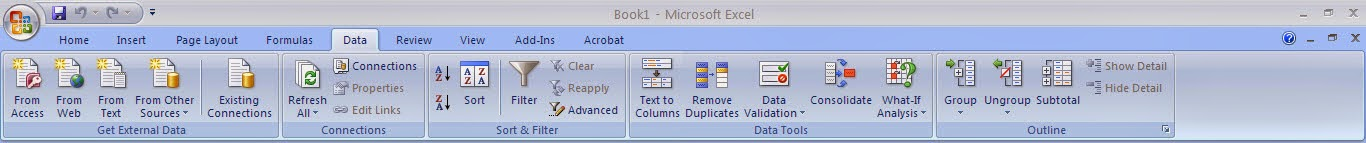 Tutorial Excel 2007 : Fungsi Menu Data