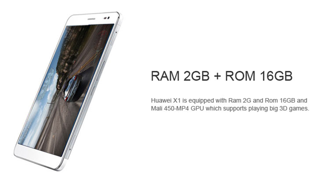 Huawei Honor X1 gets RAM of 2GB and ROM of 16GB