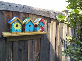 Backyard Birdhouse Craft, crafts, kids crafts, painting