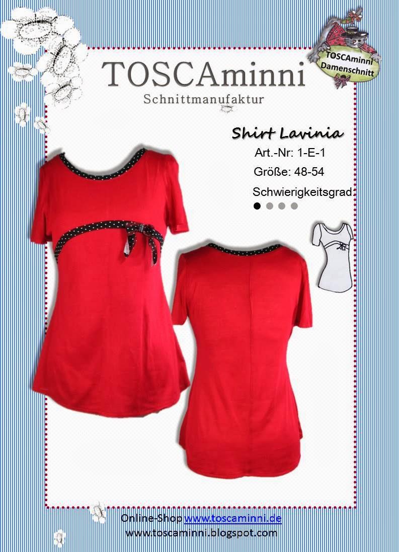 Schnittmuster Shirt Lavinia Gr. 48-54