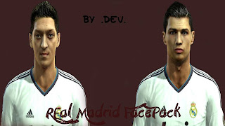 Real Madrid Facepack PES 2013 by Dev