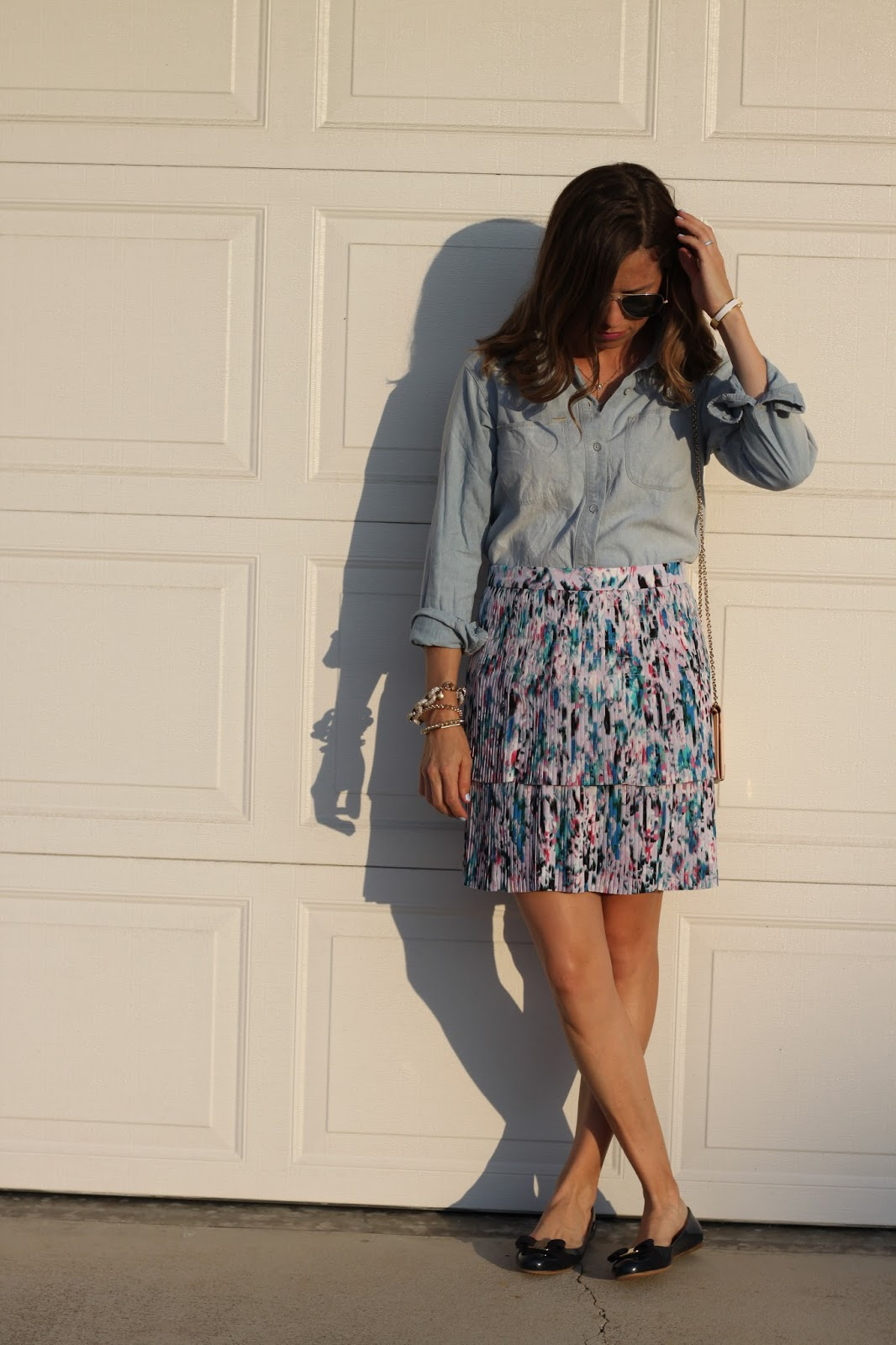 chambray street style
