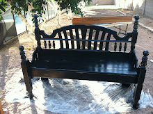 Distressed Post Bench ~ sold