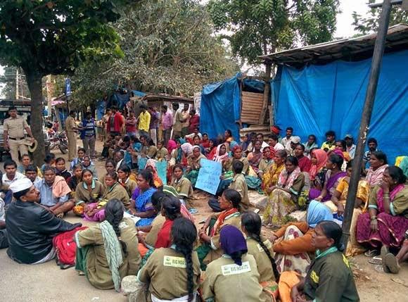 pourakarmikas protest bangalore