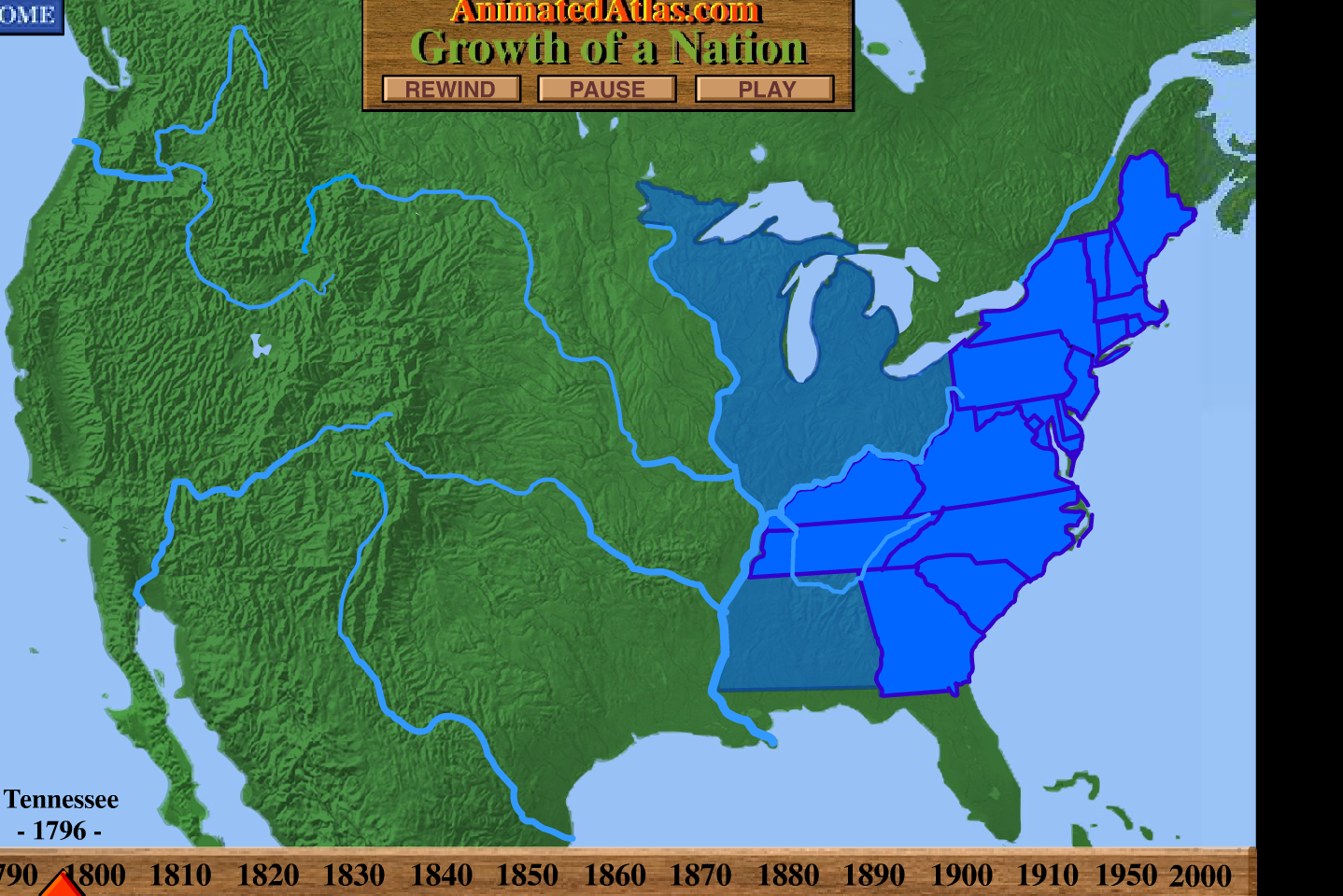 clunky american growth map