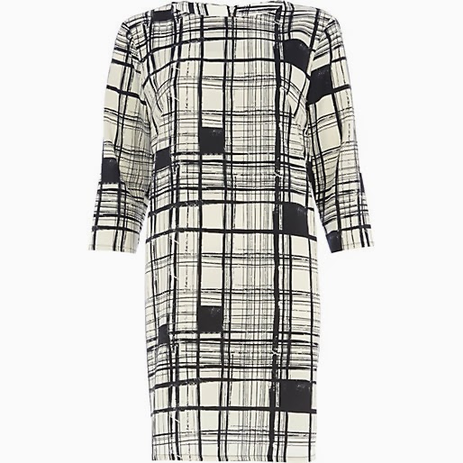 river island check dress