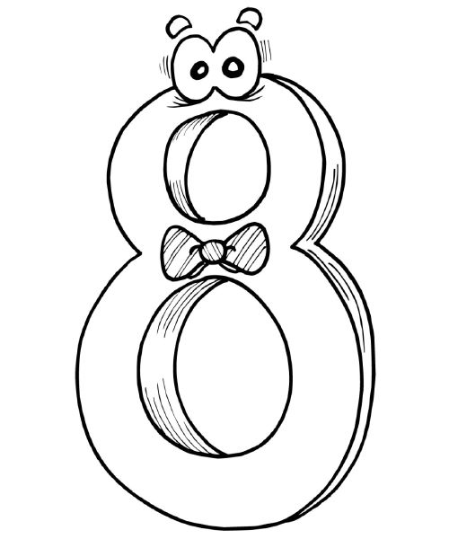 8 number coloring pages disney coloring pages for Number 8 coloring page