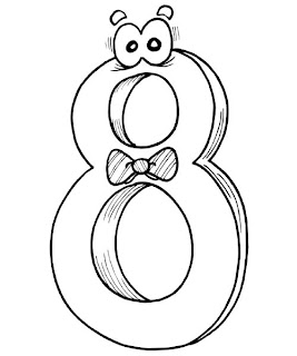 number coloring pages, free coloring pages