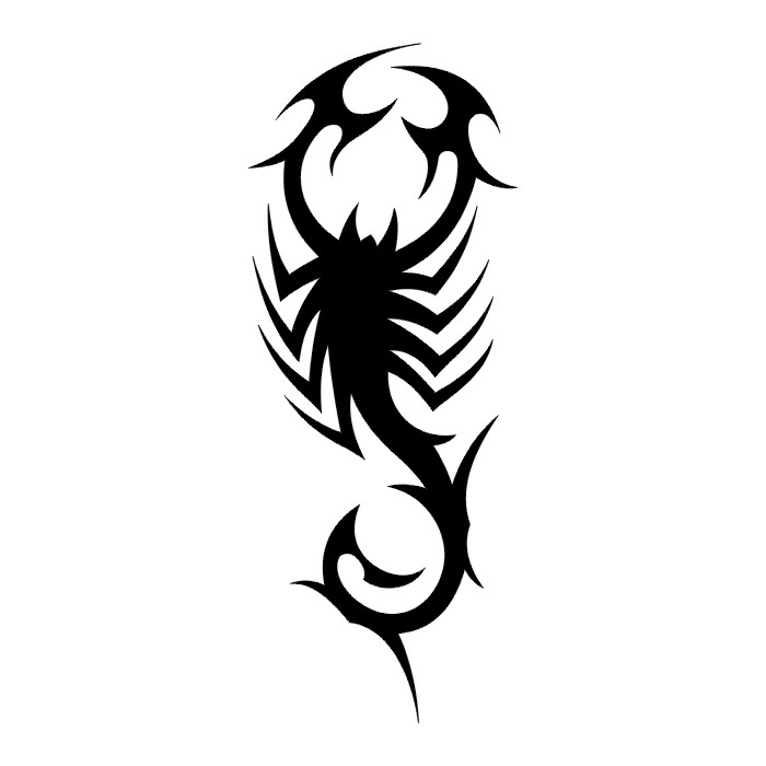 Tribal Scorpion Stencil Scorpion tattoo stencils Native American Wolf Paw
