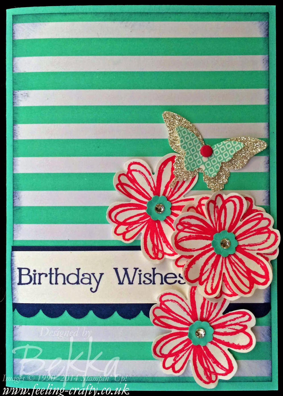 Fresh Prints Flower Shop Card by Stampin' Up! UK Independent Demonstrator Bekka - check her blog for lots of great ideas