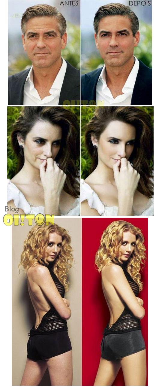 Veja as famosas antes e depois do Photoshop