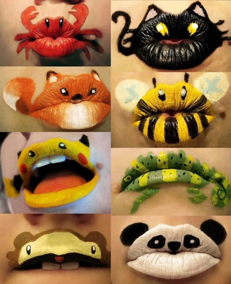 Unusual make up Art for Lips