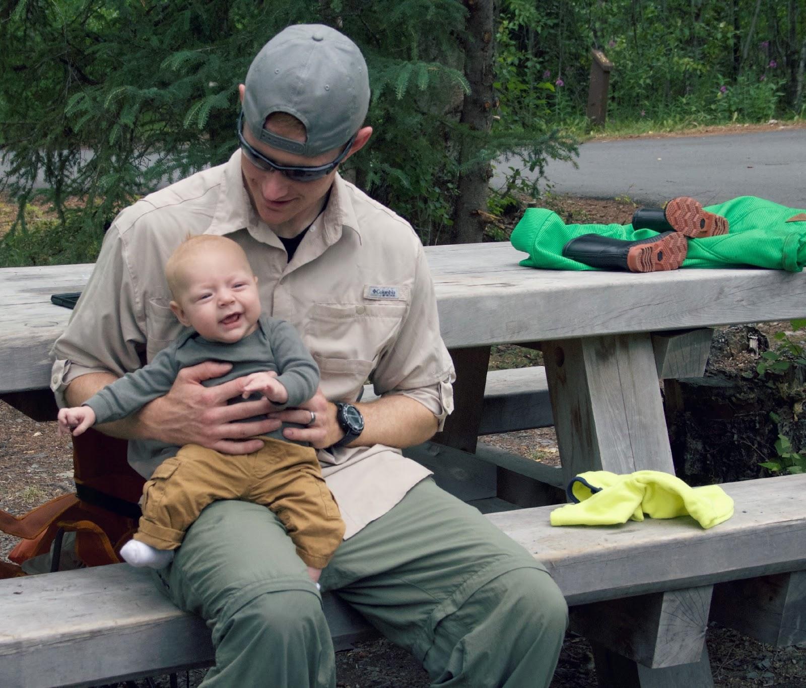 alaskan family camping