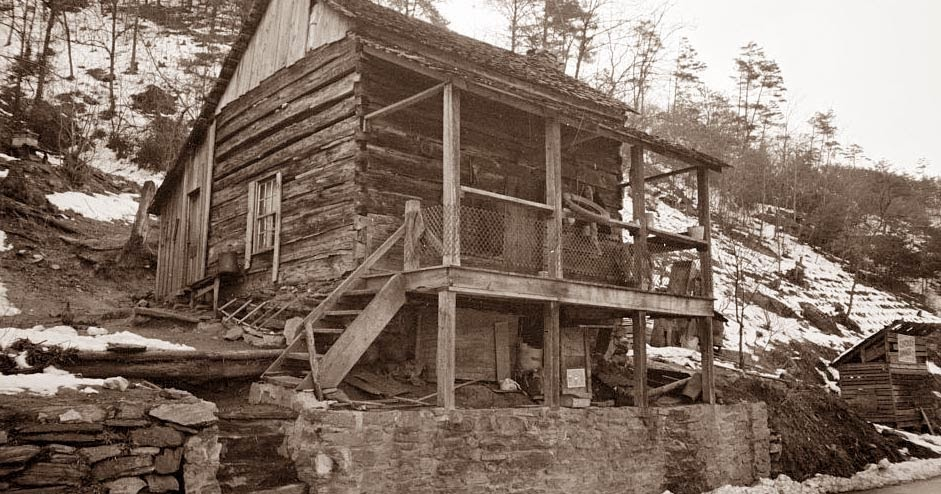 Old Picture Of The Day Appalachian Cabin