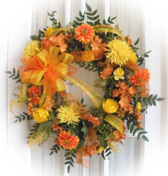 Summer silk wreaths for front door southern charm wreaths