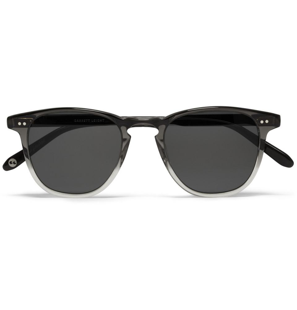 00O00 Menswear Blog: Bradley Cooper's Two Toned Polarised Sunglasses | GARRETT LEIGHT CALIFORNIA OPTICAL BROOKS D-FRAME POLARISED SUNGLASSES from Mr Porter