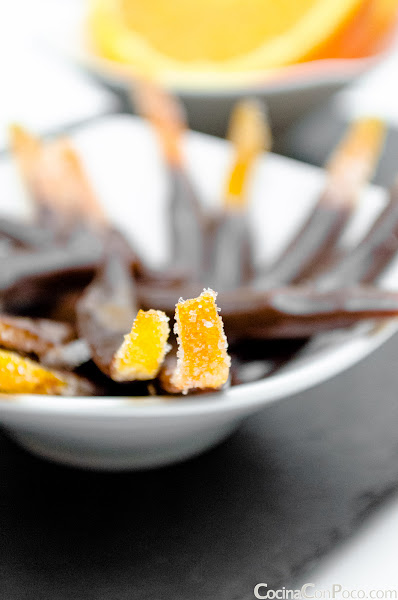 Tiras de naranja y chocolate - Receta Paso a Paso