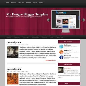 My Design blogger template. template blogspot free