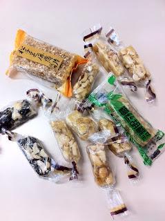 ゼミの先生から頂いた中国お菓子のお土産