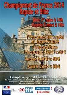 Championnat de France Rapide et Blitz - Affiche © Ligue IDF échecs