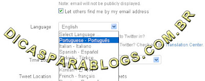configurar o Twitter