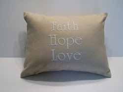 FAITH HOPE LOVE - yellow cotton