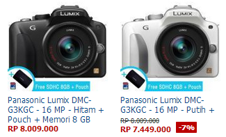 harga Panasonic Lumix DMC-G3KGC