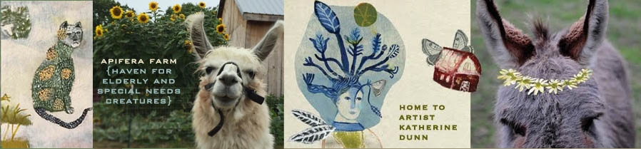 Apifera Farm: where animals and art collide. Home to Katherine Dunn/artist