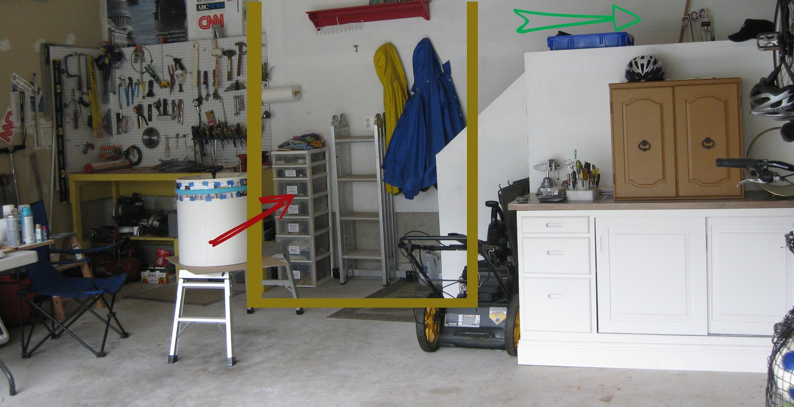 how to incorporate a mini-mudroom to your garage