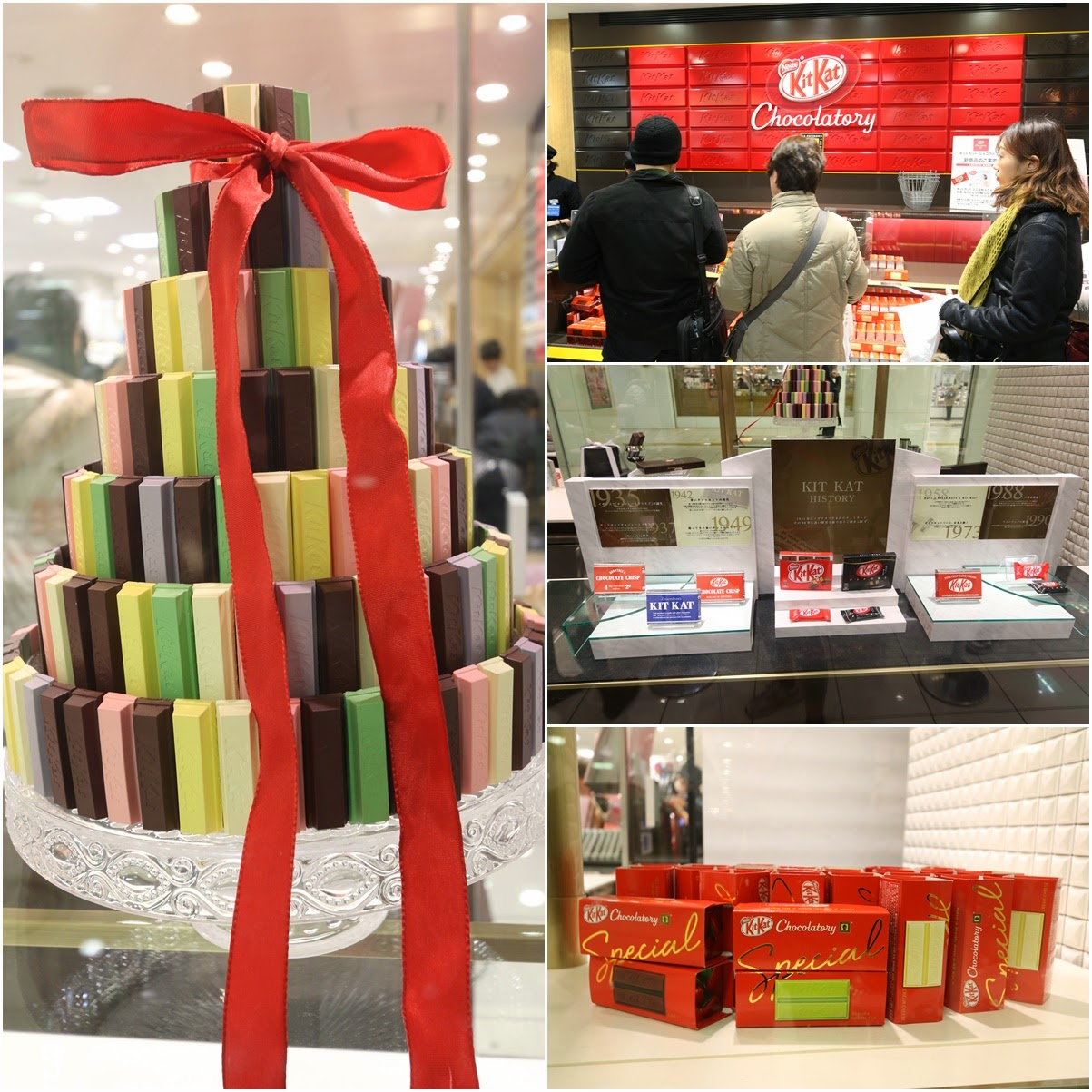 Kit Kat Chocolatory Store with variety special flavours such as green tea, cherry blossom etc at Ikebukuro in Tokyo, Japan