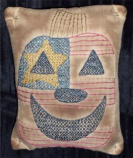 FREE Americana Pumpkin Stitchery pattern