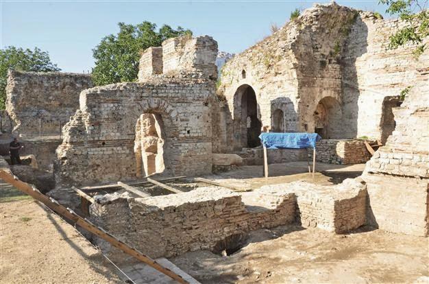 Roman Baths found under Byzantine church