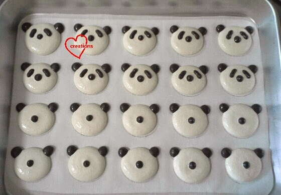 Loving Creations for You: Panda Macarons with Lemon and Chocolate ...