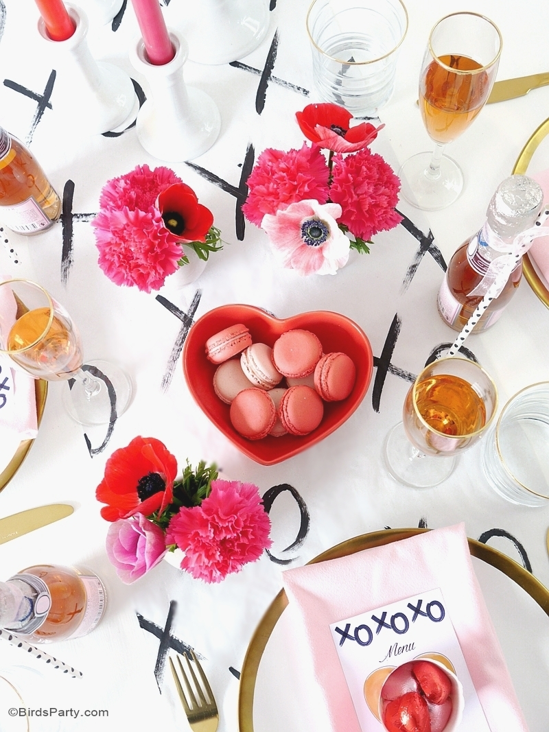 Table Moderne & DIY pour la Saint-Valentin - BirdsParty.fr