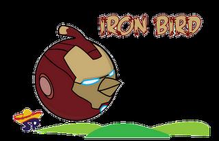 Ironman Superheroes estilo Angry Birds