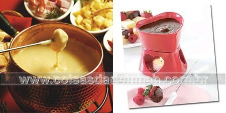 dia dos namorados decorao fondue queijo chocolate