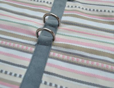 topstitch d-ring harness