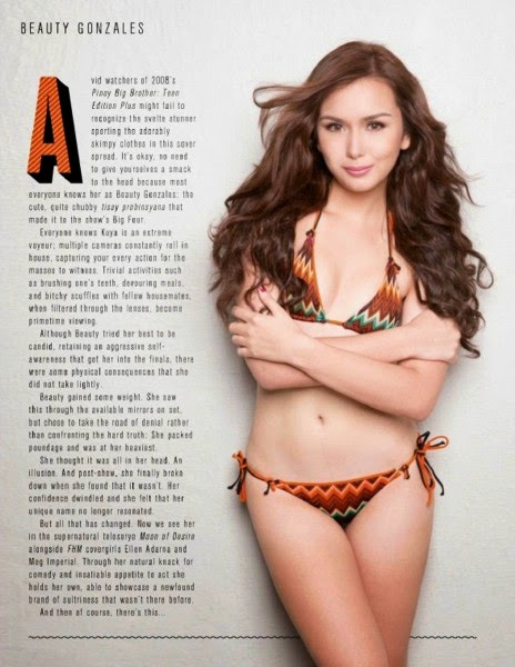 beautiful, exotic, exotic pinay beauties, filipina, hot, beauty gonzales, pinay, pretty, sexy, swimsuit, FHM Magazine