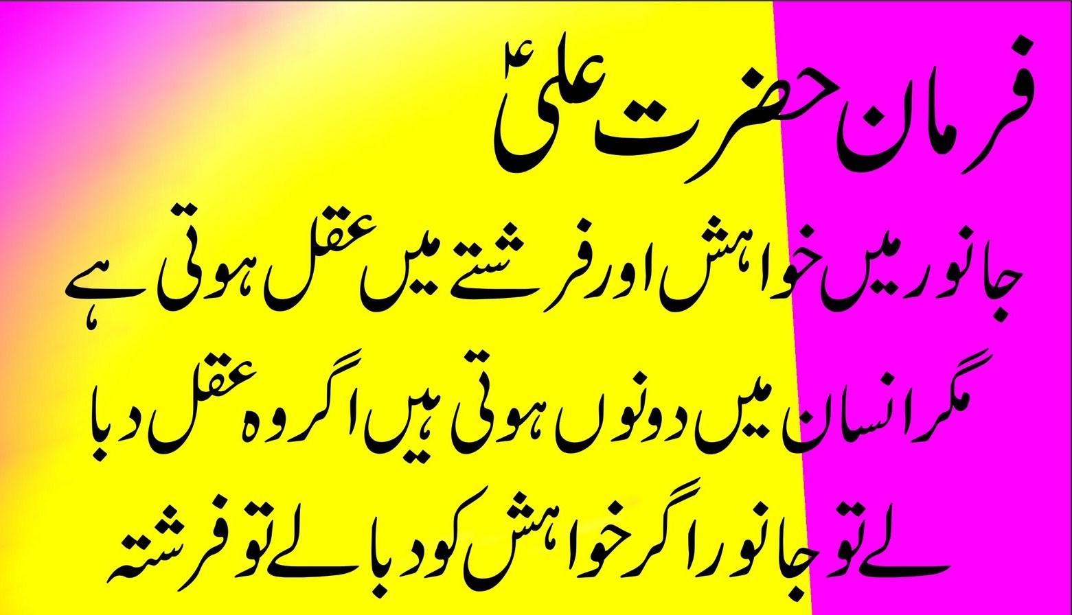 Hazrat Ali (AS) Saying in Urdu   MAULA ALI (as)