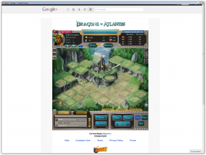 Google plus games - Dragon of Atlantis
