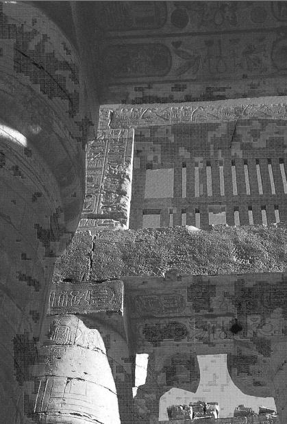 Capitals Supporting The Roof Karnak Great Hypostyle Hall