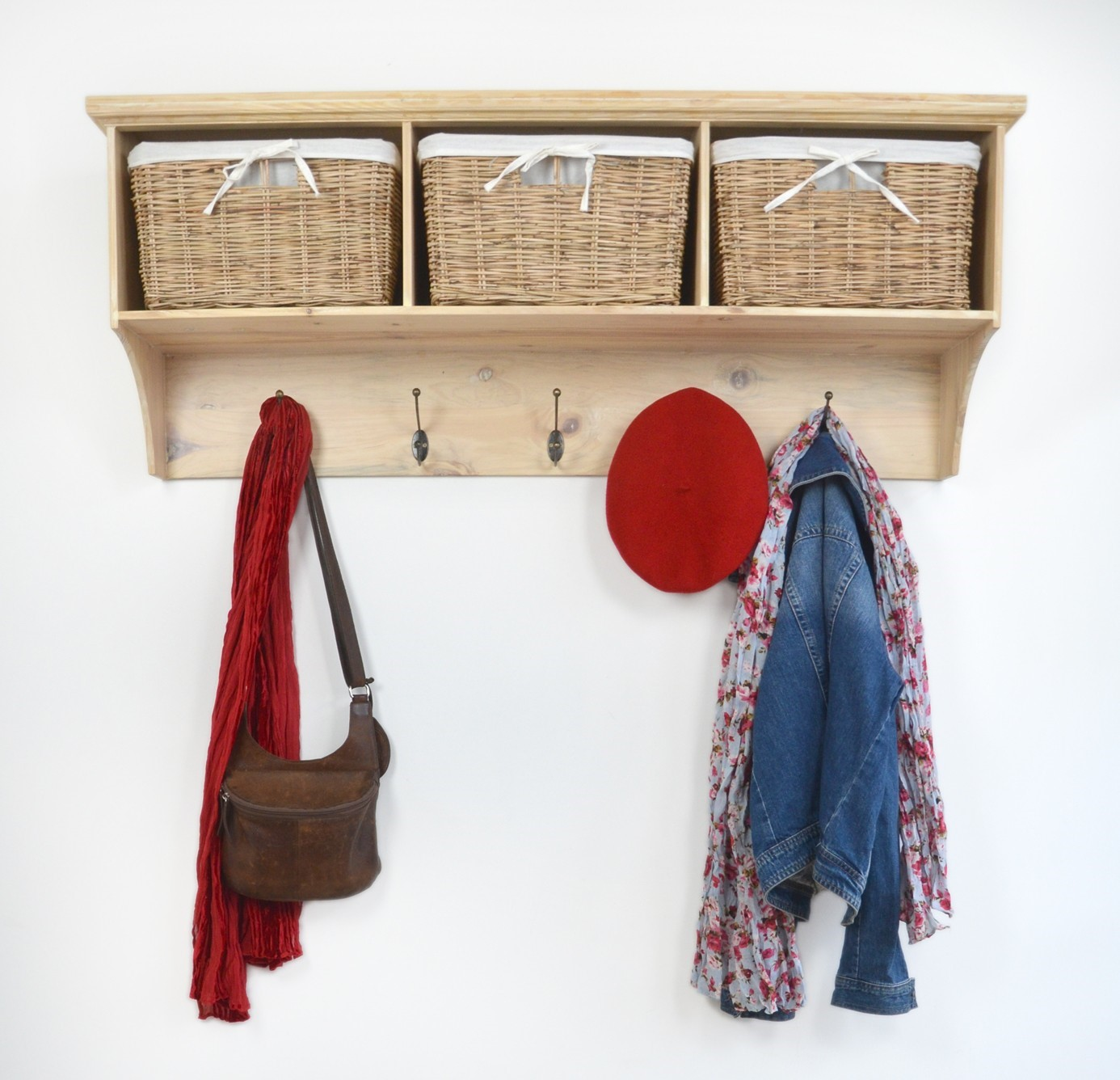 Bookcase Coat Rack Idea