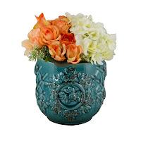 vaso vintage, vaso turquesa, vaso clássico, vaso pronvençal