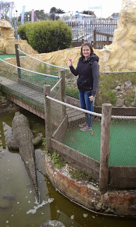 Gold Mine Adventure Golf course at the Pleasure Beach in Skegness