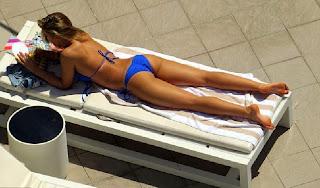 Amy Willerton blue bikini Australia
