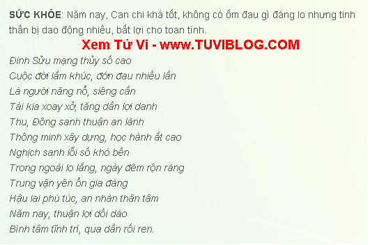 Tuoi Dinh Suu 1997 Nam 2016