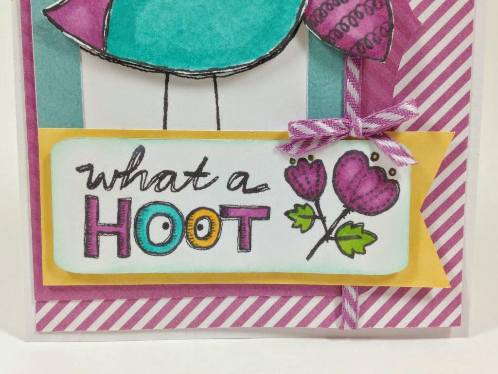 Cricut Artbooking Hoot Owl card closeup